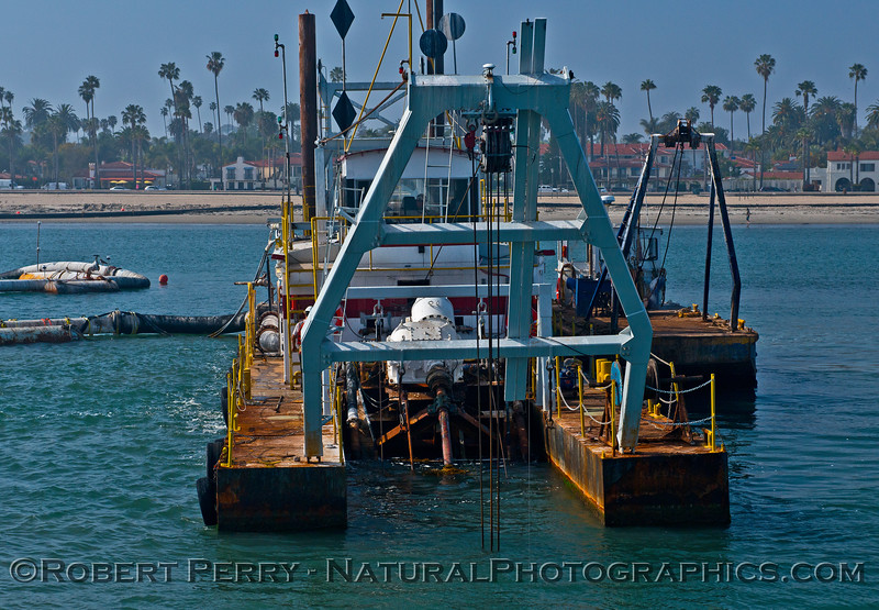 vessel dredge barge La Encina 2016 03-01 SB Harbor-014