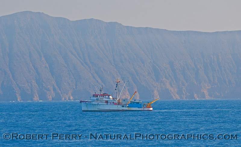 "Research vessel ""Velero IV"" off the southe side of Anacapa island."