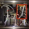 Relays have 4 wires and are help on to the frame by two screws.