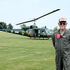 Vietnam Veteran and Pilot Robert Curtis was a Chief Warrant Officer in the United States Army while serving in Vietnam between 1970-71. He gave Helicopter rides on the Mid America Motorworks grounds Saturday during Vet Fest 2018. Charles Mills photo