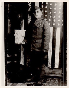 """Joseph I. Dias, U.S. Army, great grandfather to Kristina L. Garcia, who says: """"My great-grandfather, Joseph Dias proudly served in World War I with the 316L Infantry Platoon. He received a Purple Heart Medal and the St. Christopher Medal."""""""