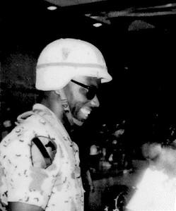 Vennie Evans, U.S. Army, father to Brittany Evans