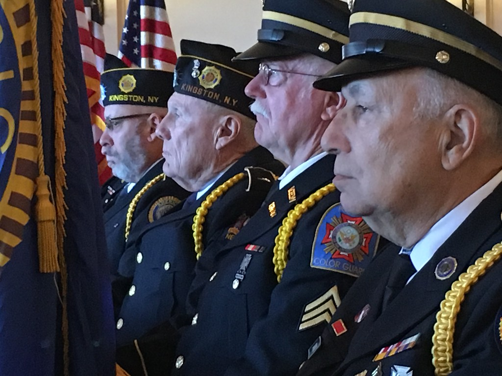 . Veterans Day ceremony at Kingston City Hall in Kingston, N.Y., on Nov. 11, 2017