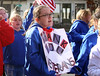 HOLLY PELCZYNSKI - BENNINGTON BANNER Avy Sweet - Cordeau 10 years old of Shaftsbury holds a sign, thanking veterans for their service, on Sunday during the Veterans Day parade in Bennington.