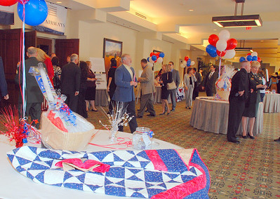 Prize tables and reception area