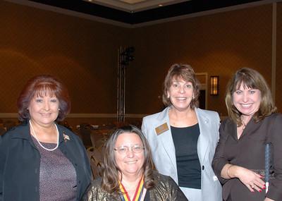 2007 Veteran Grand Marshals Rita Brock-Perini and Sue Wudy with Bette Jefferson and Paula Pedene