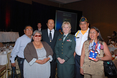 Purple Heart Sponsors from the Salt River Pima-Maricopa Indian Community with Col. Lake