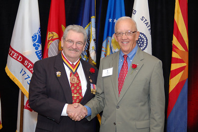 Larry Brown & Lt. Gen. Blanck
