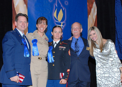 Honorees Mike Chesser, Teri Brookins, Laura Biggar with George Ertel and Carey Pena