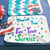 Samoset Middle School students made placemats for the lunch with veterans on Thursday in Leominster.  SENTINEL& ENTERPRISE/JOHN LOVE
