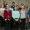 Student members of the Samoset Middle School choir sang two patriotic songs during the school lunch with veterans on Thursday in Leominster.  SENTINEL& ENTERPRISE/JOHN LOVE
