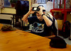 HOLLY PELCZYNSKI - BENNINGTON BANNER Army veteran Kevin Kendrick looks up from his Virtual Reality headset on Wednesday morning at the Vermont Veterans Home.
