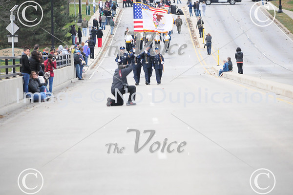 Aurora, IL Veteran's Day parade and ceremony on Veterans Island 11-11-12