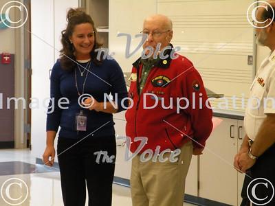 Aurora, IL Veterans Day at Herget Middle School Veteran Ron Olsen 11-11-10