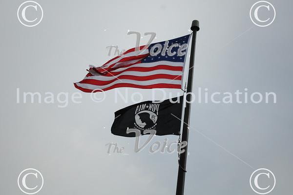 Fox Valley Marines Detachment # 1233 Veteran's Day ceremony at Veteran's Island in Aurora, IL 11-11-11