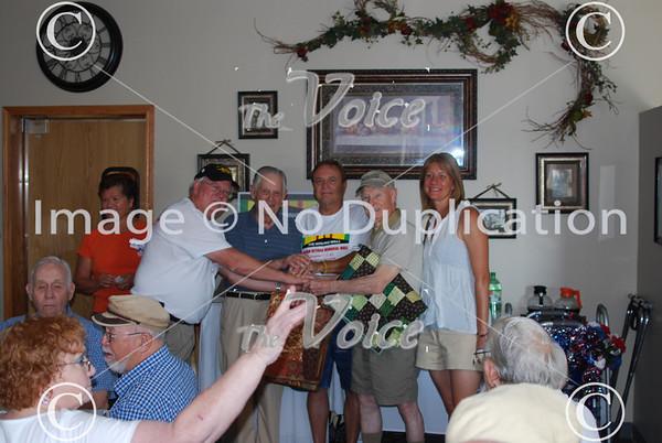 Fox Valley Veterans Breakfast Club at Grandma's Table Restaurant in Montgomery, Ill 7-18-13