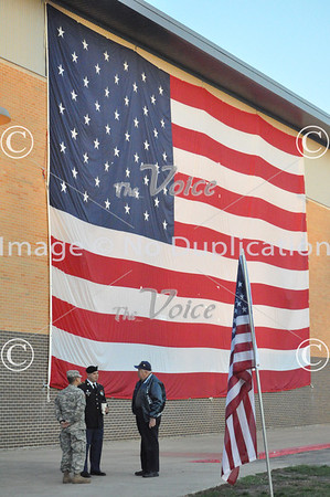 Military Veteran's Ceremony at West Aurora, IL High School 11-9-12