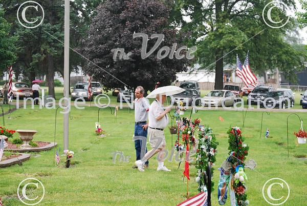Montgomery, IL VFW Memorial Day ceremony in Riverside Cemetery 5-31-10