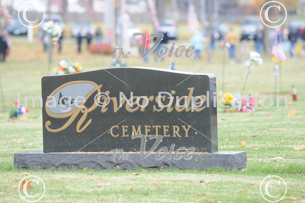 Montgomery, IL VFW Veterans Day ceremony at Riverside Cemetery 11-11-11