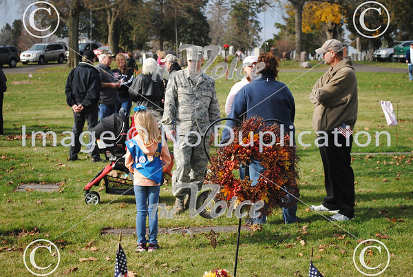Montgomery VFW Veteran's Day ceremony at Riverside Cemetery in Montgomery, IL 11-11-12