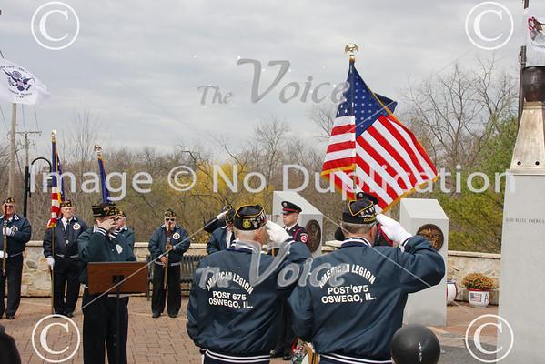 Oswego, IL Veterans Day Ceremony 11-11-12
