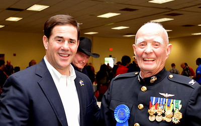 Gov-elect Doug Ducey, Marshall Trimble and Fred Cone