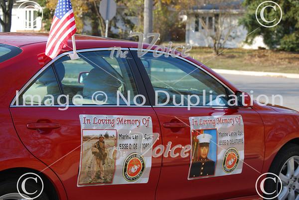 Veteran's Day ceremony at Veterans Memorial in North Aurora, IL 11-11-10