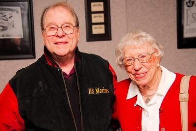 Roger Boeker Vietnam Marine Veteran with Connie Allord WW II Marine Veteran