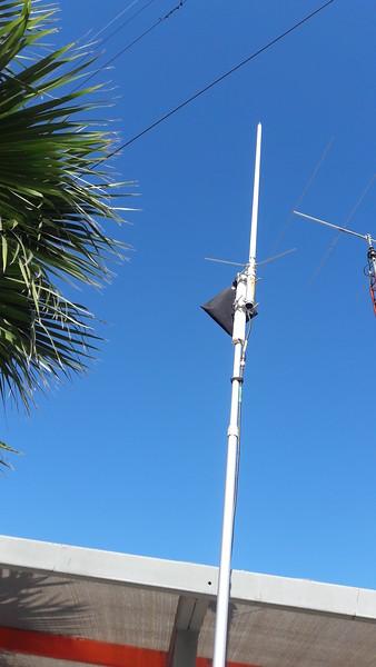 Diamond X50 on top of 18 foot telescoping mast