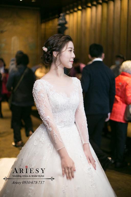 新秘推薦,新娘秘書,Ariesy,台北新秘,君品婚禮,韓風編髮新娘造型