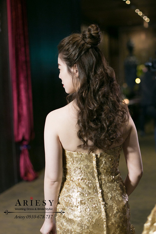 新秘推薦,新娘秘書,Ariesy,台北新秘,君品婚禮,敬酒時尚新娘造型
