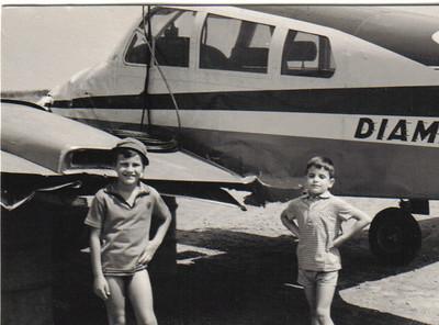 Cessna 310 CR - LEF (passaro azul)  acidentado - Zé Gradil e Quim Paulo Gameiro