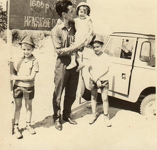 1965-Henrique de Carvalho -  Fernando Figueiredo e filhos Chico, Palmira, Álvaro