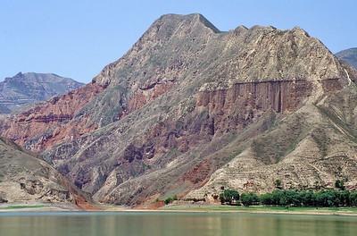 The Yellow River close to Bingling Si, Gansu, China