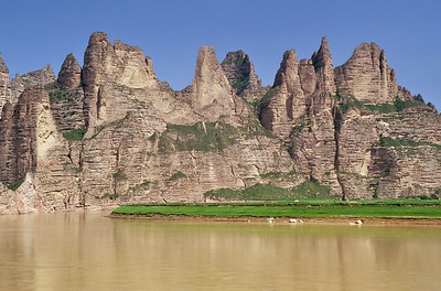 The Yellow River close to Bingling Si, Gansu, China