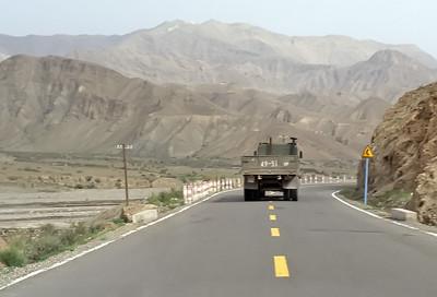 Torugart Pass, border between Xinjiang, China, and Kyrgyzstan