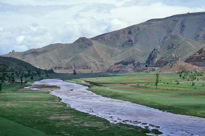 Along the Transmongolian railway, China