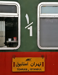 Train Tehran, Iran to Istanbul, Turkey