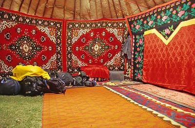 Sleeping  in Tash Rabat, Kyrgyzstan