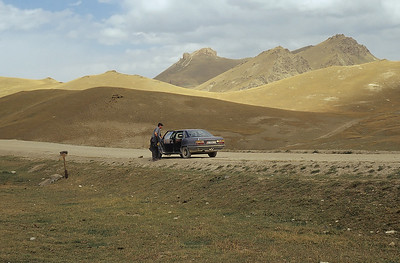 On the road to Tash Rabat, Kyrgyzstan