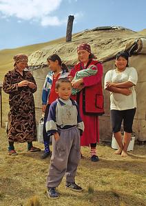 Kyrgyz nomads, Tash Rabat, Kyrgyzstan