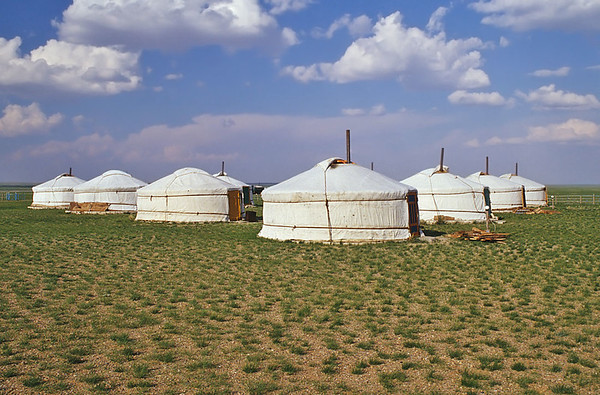 Dundgovi ger camp, Middle Gobi desert, Mongolia