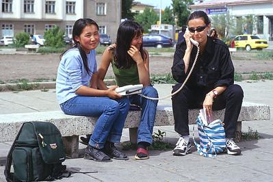 Calling home from Ulaan Baatar, Mongolia