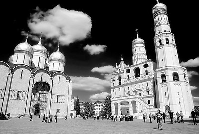 Cathedrals inside The Kremlin,  Moscow, Russia