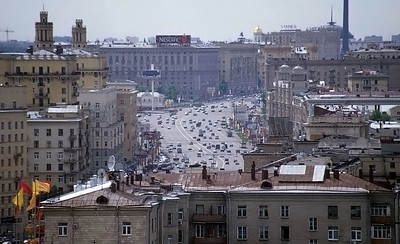 Moscow, Russia: view from Hotel Ukraine