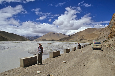 On the road to Mount Everest base camp, Tibet