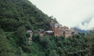 Zhangmu, Tibet-Nepal border, China side