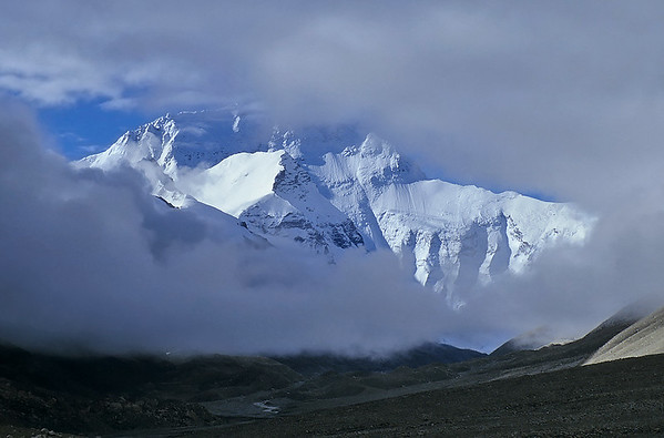 Mount Everest North face (8.848m) from Rongbuk, Tibet