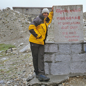 Me at the Everest Base Camp, Tibet