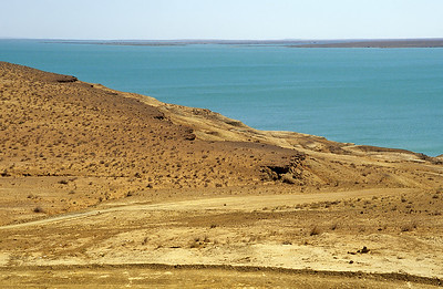 Amu Darya river, Kyzylkum desert, Uzbekistan
